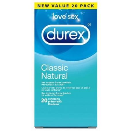 Durex Classic Natural 20 Kondome