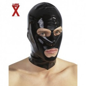 Latex Kopfmaske schwarz