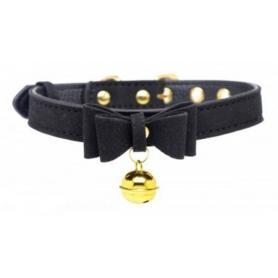 Golden Kitty Halsband mit Katzenglocke