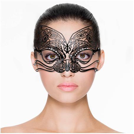 Schwarze venezianische Maske