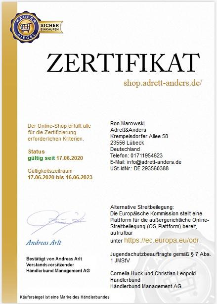 Zertifikat geprüfter Online Shop